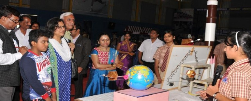 "Science Exhibition ""SPECTRA""2017 was held at Aditya Indoor Stadium. Chief Guest Dr.Suja Elizabeth (IISC) graced the occasion."