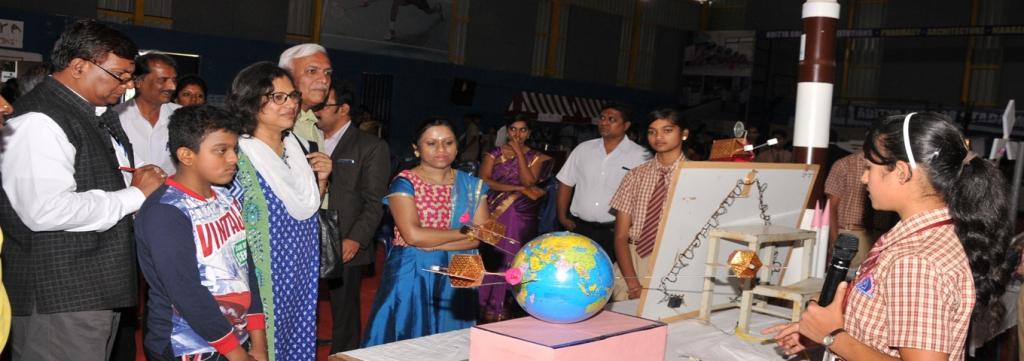 "Science Exhibition ""SPECTRA""2017 was held at Aditya Indoor Stadium. Chief Guest Dr.Suja Elizabeth (IISC) graced the occasion."