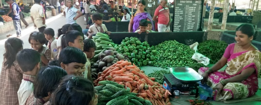 KINDERGARTEN FIELD TRIP TO THE MARKET