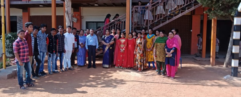 Women's Day Celebration was done at School Campus. Principal addressed the students sharing her valuable experience and highlighting the Importance of Women's Day.