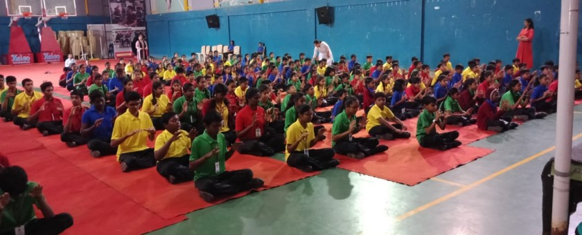 We have conducted Super Brain Yoga Session at Aditya National Public School organized by PRANIC HEALING CENTRE.  Yoga Exercise for blessing our EARTH and Water Drought areas to have more water.  Save Water.... Save our Earth!!
