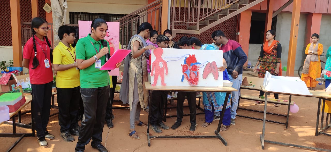 Science Exhibition was held in School Campus during National Science Day